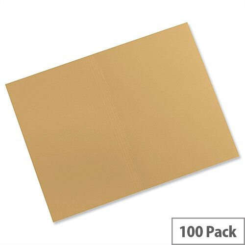 Guildhall Square Cut Folders Foolscap Manilla Yellow FS315 Pack 100