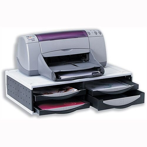 Fellowes Machine Organiser Printer Stand with Cable Management Clip Platinum Graphite 24004
