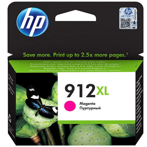 HP 912XL - 10.4 ml - High Yield - magenta - original - ink cartridge - for Officejet 8012, 8014, 8015; Officejet Pro 8022, 8024, 8025, 8035