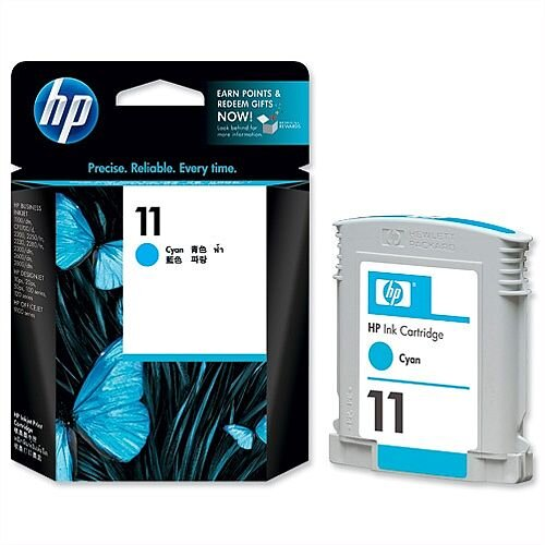 HP 11 Cyan Inkjet Cartridge C4836A