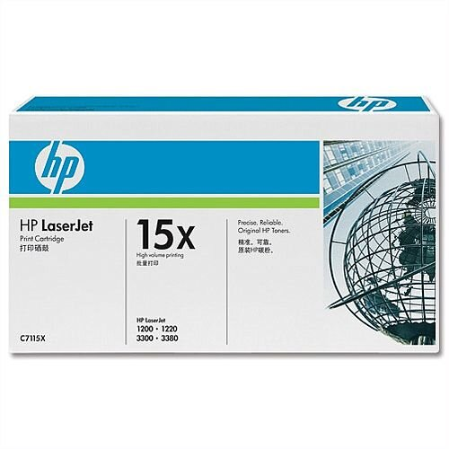 HP 15X Black High Yield LaserJet Toner Cartridge C7115X