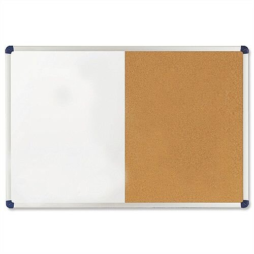 Nobo Classic Combination Board Drywipe and Cork 1200 x 900mm