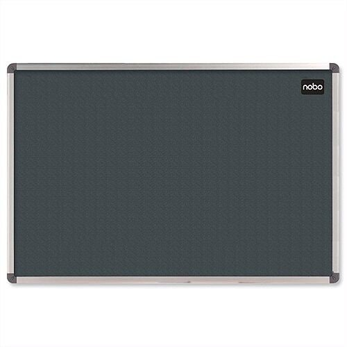 Nobo Grey Notice Board Felt with Aluminium Frame 900 x 600mm