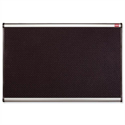 Nobo Prestige Noticeboard High-density Foam 1200 x 900mm Black with Aluminium Finish