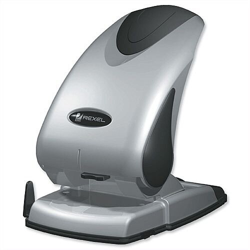 Rexel P265 2 Hole Punch Heavy Duty 65 Sheets Silver and Black