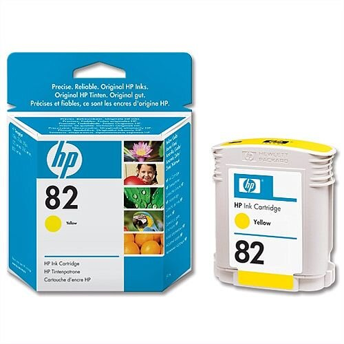 HP 82 Yellow Inkjet Cartridge 69ml C4913A