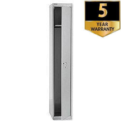Bisley 1 Door Steel Locker Goose Grey CLK121-73