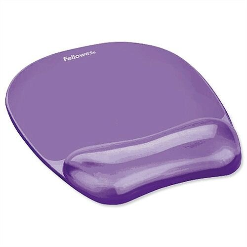 Fellowes Gel Mouse Pad with Wrist Rest Purple