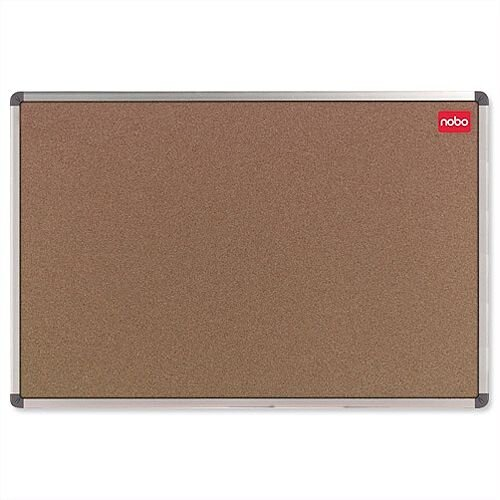 Nobo Cork Notice Board Aluminium Trim with Fixings W1800 x H1200mm