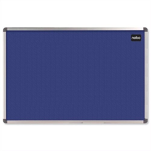 Nobo Blue Felt Notice Board Aluminium Frame 1800 x 1200mm With Fixings