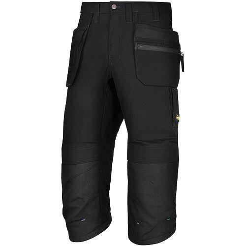 "Snickers LW 37.5 PirateTrousers Plus Holster Pockets Waist 35"" Inside Leg 3/4 Length Black Size 100 WW1"