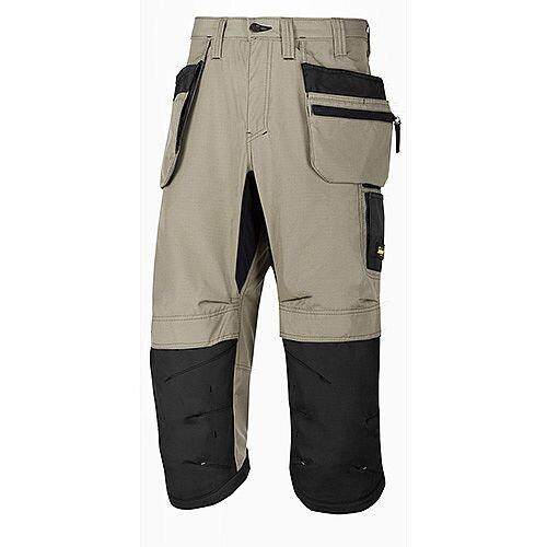"Snickers LW 37.5 PirateTrousers Plus Holster Pockets  Waist 50"" Inside Leg 3/4 Length Khaki Black Size 64 WW1"