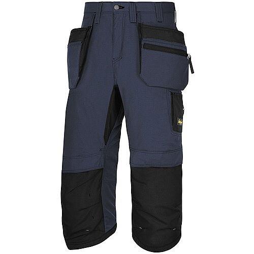"Snickers LW 37.5 PirateTrousers Plus Holster Pockets Waist 35"" Inside Leg 3/4 Length Navy Black Size 50 WW1"