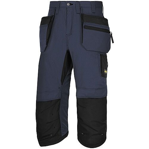 "Snickers LW 37.5 PirateTrousers Plus Holster Pockets Waist 35"" Inside Leg 3/4 Length Navy Black Size 100 WW1"