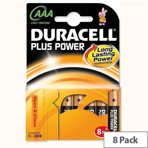 Duracell Plus AAA Battery Alkaline 1.5V (8 Pack) 81275401