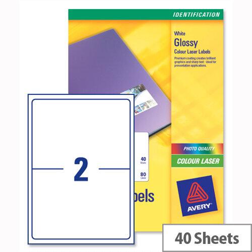 avery l7768 40 address labels colour laser 2 per sheet 199 6 x 143 5