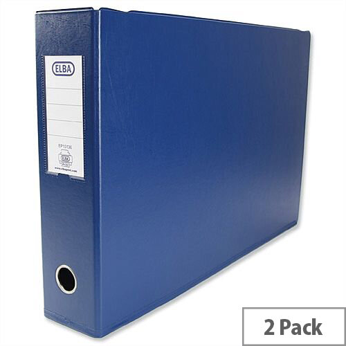 Elba A3 70mm Blue Plastic Lever Arch File Pack of 2