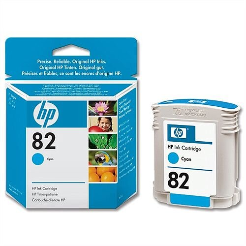 HP 82 Cyan Inkjet Cartridge 69ml C4911A