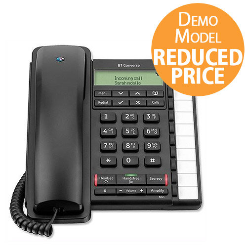 [Demo Model] BT Converse 2300 Telephone Caller Display 10 Redial 100-entry Directory Black