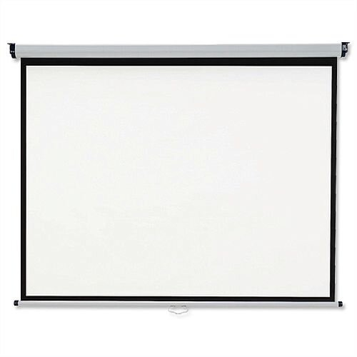 Nobo W1500 x H1138mm Wall Projection Screen for DLP LCD 4:3 Format Black-bordered 1902391