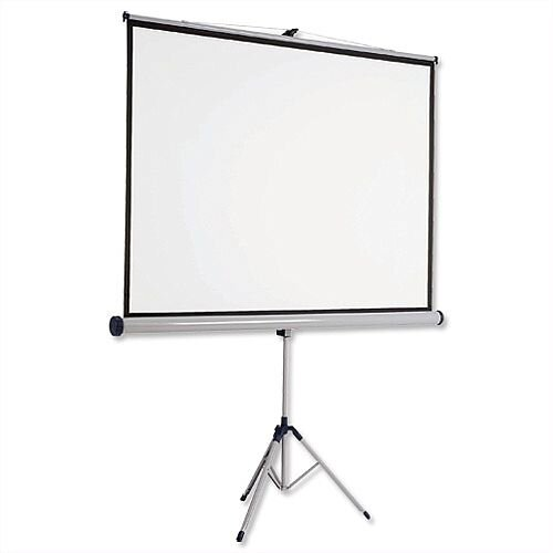 Nobo Tripod Projection Screen W1500 x H1138mm for DLP LCD 4:3 Format Black Bordered 1902395