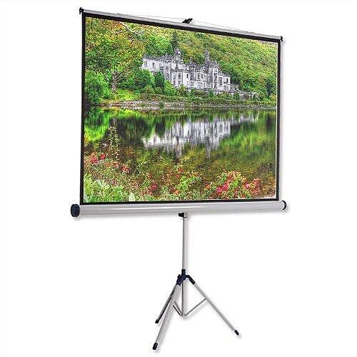 Nobo Tripod Projector Screen W2000xH1513mm 4:3 Format  DLP LCD Black-Bordered 1902397