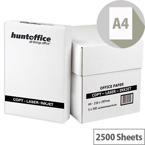 HuntOffice Whitebox Printer Paper A4 75gsm White Box of 2500 Sheets