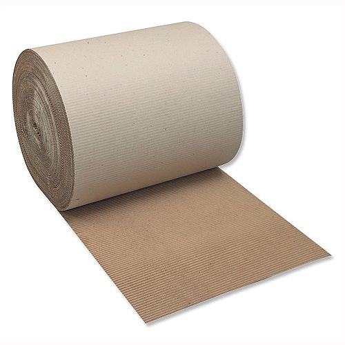 Recycled Corrugated Paper 900mm x 75m Single-Faced Roll Ambassador