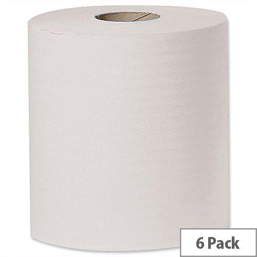 Tork Centrefeed Paper Hand Towel Rolls 1-Ply W194mm x L300m  White (6 Rollls) Ref J96122