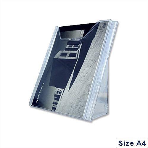 Extendable Literature Holder A4 Clear Durable Combiboxx