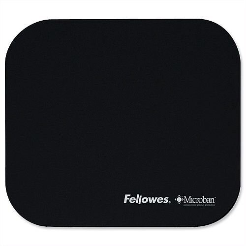 Fellowes Microban Mousepad Antibacterial Black