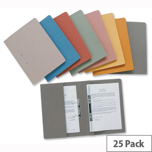 Blue Transfer Spring Files with Inside Pocket 38mm Foolscap Pack 25 Invo