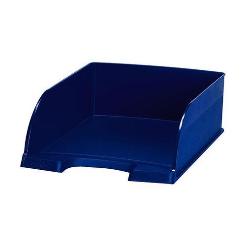 Plus Jumbo Blue Letter Tray Deep Sided Leitz Pack of 4