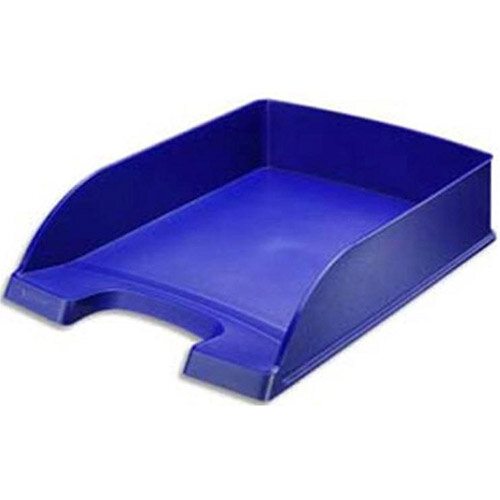 Plus Letter Tray High Sided Blue Leitz Pack of 5