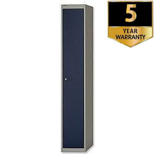 Bisley 1 Door Steel Locker Goose Grey Blue