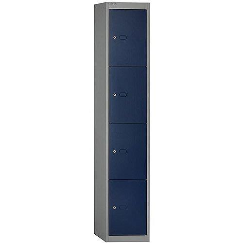 Bisley 4 Door Locker Steel Goose Grey Blue CLK124-7339