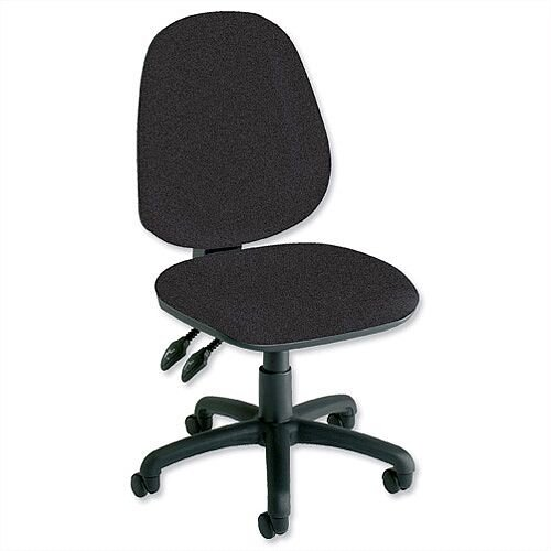 Trexus Plus Heavy Duty High Back Asynchronous Office Chair Charcoal Suitable For 8 Hours Per