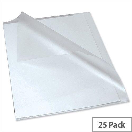Rexel Anti Slip Cut Flush Folders Polypropylene Clear 2102211 Pack 25