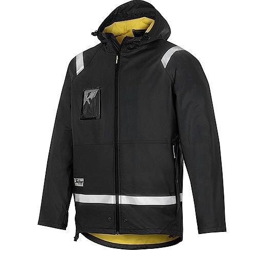 Snickers 8200 Rain Jacket PU Size S Black Regular