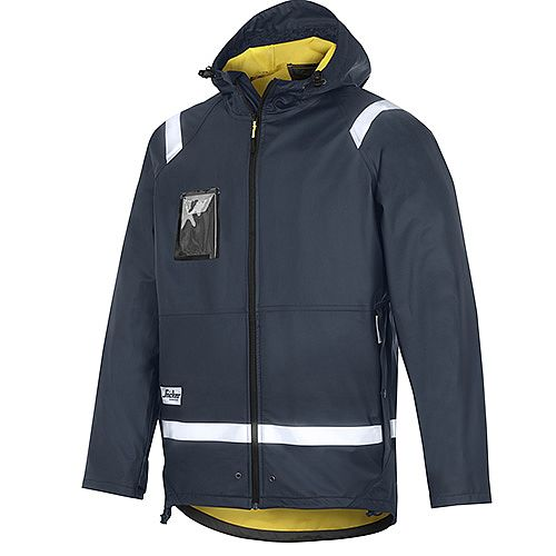 Snickers 8200 Rain Jacket PU Size S Navy Regular