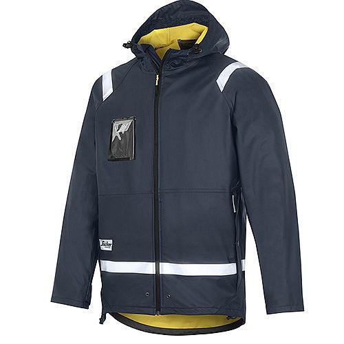 Snickers 8200 Rain Jacket PU Size M Navy Regular