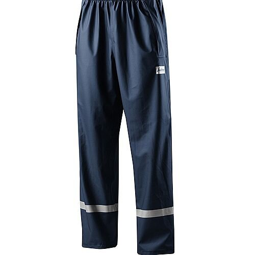 Snickers 8201 Rain Trousers PU Navy Size L