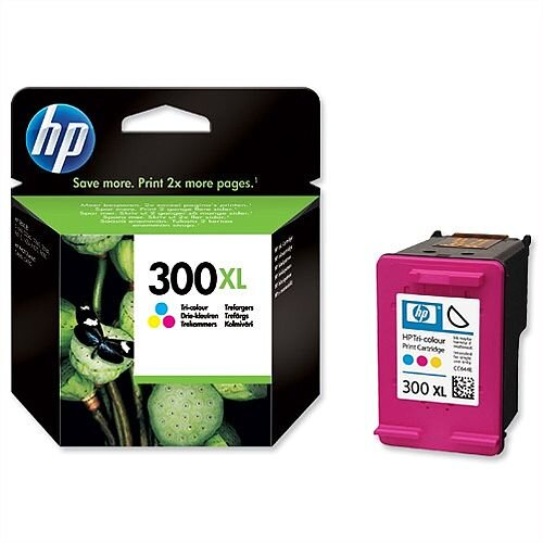 HP 300XL Tri Colour Ink Cartridge CC644EE