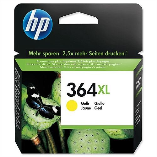 HP 364XL Yellow Ink Cartridge CB325EE