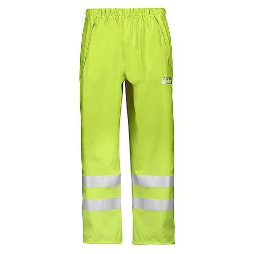 Snickers 8243 High-Vis PU Rain Trousers, Class 2 Yellow Size XXL