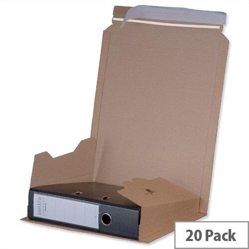Flexocare Filepac Lever Arch Files Mailer Internal 320x35-80x290mm Brown Pack 20