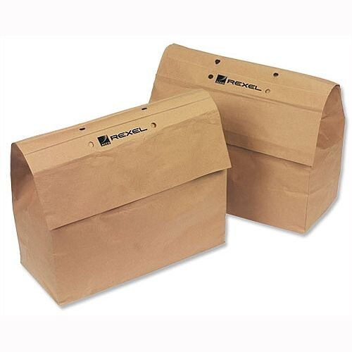 Rexel Recycling Shredder Bags For Mercury 115 Litre Pack 50