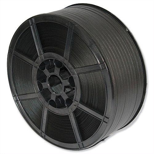 Pro Polypropylene Strapping Black Medium Duty Capacity 135kg 12mmx2000m Black