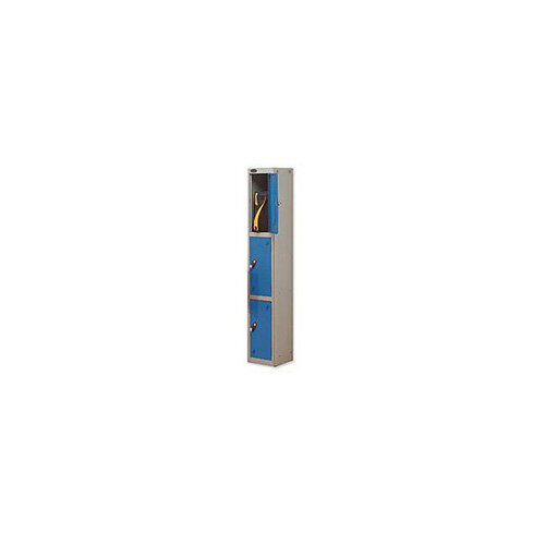 Probe 3 Door Locker Hasp &Staple Lock Extra Depth ACTIVECOAT W305xD460xH1780mm Silver Blue