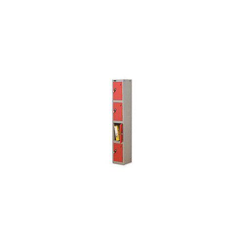 Probe 4 Door Locker Hasp &Staple Lock Extra Depth ACTIVECOAT W305xD460xH1780mm Silver Red